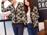 一件代发情侣装秋冬新品情侣毛衣 韩版长袖情侣针织衫代理加盟