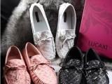 2014春季新款欧美风平跟平底豆豆鞋潮女真皮舒适单鞋孕妇开车瓢鞋