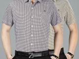 夏季品牌男装纯棉舒适上衣短袖薄款衬衫中老年男式休闲衬衣批发