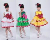圣诞儿童新款女童公主纱裙儿童舞台现代舞蹈表演演出合唱服唱歌服