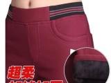 加绒加厚铅笔裤糖果色大码女裤子韩版显瘦长裤高腰小脚