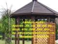 弘鑫园林景观:凉亭、花架、地板、木桥、围栏。