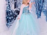 一件代发欧美童装frozen舞蹈演出服亮