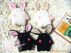 手工良品可爱表情小兔/韩国概念兔/珍珠兔