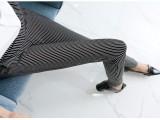 11元春季韩版竖条纹纯棉打底裤女士长裤外穿铅笔小脚裤女装批发