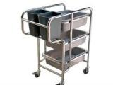 供应全不锈钢三层餐盘收集车(图)