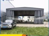 河北沧州厂家定做大型推拉雨棚户外阳蓬移动停车雨棚 物流仓库蓬