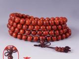 紫檀佛珠批发 印度小叶紫檀108颗同料顺纹佛珠手串手链 一手货源