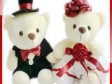 婚纱泰迪熊 婚纱熊 婚庆用品 婚庆娃娃 婚车娃娃 可1件代发