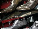 潮韩版尖头皮鞋搭扣潮男鞋鳄鱼纹男士高跟鞋婚鞋商务休闲增高鞋子