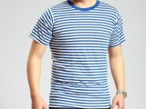 海魂衫 海军短袖 男女海军T恤 条纹短袖汗衫 情侣服 表演短袖