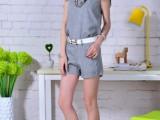 822#欧洲站新款夏季休闲套装女时尚套装短袖短裤名媛小香风