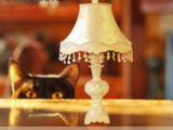 欧式台灯 树脂简约创意婚庆床头灯饰 手绘书房卧室奢华灯具批发