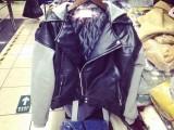 韩国代购 街拍风帅气假两件拼接棒球皮衣连帽外套