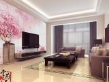 堂前燕彩雕现代简约客厅电视背景墙蜜意之兰