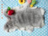 **整张家兔草兔皮皮草护膝围巾内丹DIY专用原料獭兔皮