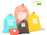 酷蒙 韩版旅行收纳包 抽拉式束口袋 整理袋 防水新款收纳袋厂家