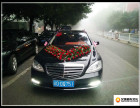 重庆奔驰S350婚车车队出租,自驾商务接待带均可