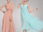 2013新款 沙滩裙 海滩裙 v领 修身波西米亚长裙 雪纺连衣裙