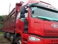 一汽解放J6P350前四后八9.6米高栏货车,15年7月上户