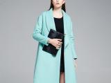 欧洲站女装 2014欧美时尚秋冬新款 糖果大码高档羊毛毛呢大衣外