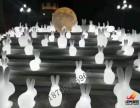 西安中秋主题道具发光月亮发光玉兔尺寸定制租赁出售