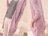 2013新款春装中长款不规则镂空针织衫披肩防晒衫开衫空调衫外套女
