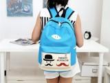 2014新款儿童学生书包男女小学生休闲旅行背包胡子双肩包女韩版潮