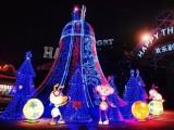 户外大型圣诞树生产厂家 美陈灯饰画制作安装施工