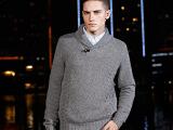 品牌男士翻领羊毛衫男士长袖毛衣秋冬男装上衣大码韩针织衫毛衣男