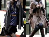 2014新款韩国SZ 时尚欧美女装毛毛领蝙蝠袖宽松大码毛衣外套