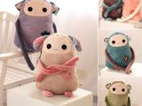 可爱卖萌精灵猴子猫咪 毛绒玩具公仔长臂娃娃 居家办公椅靠垫抱枕