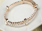 义乌饰品批发 闪钻镶钻水晶钻石开口手镯 手链 女生小饰品