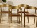 餐椅咖啡厅椅子餐饮连锁店椅铁艺休闲椅洽谈椅奶茶店桌椅厂家直销