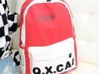 淘宝爆款韩版潮学院风QXCAI双肩背包时尚双肩包中学生书包