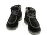 淘工厂真皮羊毛雪地靴女人头系鞋带贝克汉姆男鞋冬款厂家直销批发