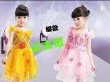 七朵花亮片款六一儿童公主裙舞蹈服礼服厂家直供批发
