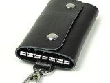 新款钥匙包男女士大容量锁匙包全牛皮钥匙包真皮卡包男女钥匙扣