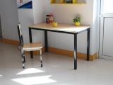 长春 厂家定制曲目连体餐桌椅-肯德基样式-款式多 图
