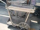 不锈钢加工焊接 加工制作不锈钢小推车 早餐车 多层手推车