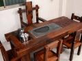 益阳市老船木家具茶桌椅子沙发茶几茶台餐桌博古架办公桌罗汉床