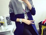 2015秋冬季韩版女式针织衫开衫毛衣中长款修身羊毛外套厚厂家直销