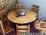 厂家直销火焰鹅餐厅桌椅,醉鹅餐厅桌椅,农庄桌椅,碳化桌椅快