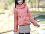 现货2014冬新款棉衣棉服女带帽韩版短款棉衣 冬装外套批发 供网