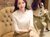 2015韩版秋季新款长袖职业衬衫女士长袖工作服长袖职业女装衬衫爆