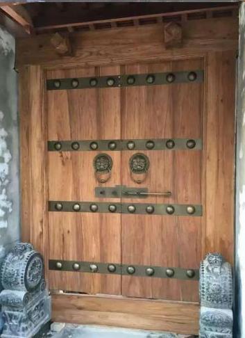 别墅双开大门 原木庭院大门 正品实木大门 别墅进户门