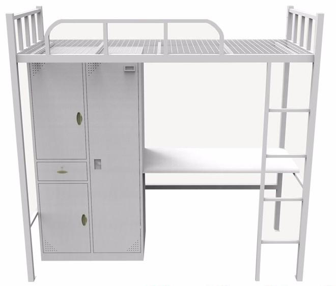 沈阳公寓床上床下桌学生床铁质多功能宿舍床外贸尾单批发零售