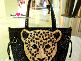 2013新款韩版女包批发亮片豹头包单肩包手提包简约百搭包一件代发