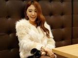2014厂家直销秋冬新款韩版拼色人造毛毛仿皮草短外套