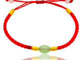 玉石转运珠红绳手链 淘宝店小礼品 赠品 促销品